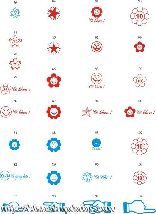Mẫu khắc dấu logo tiểu học cho giáo viên tại Gia Lai