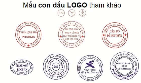 Mẫu con dấu logo công ty, tổ chức theo yêu cầu