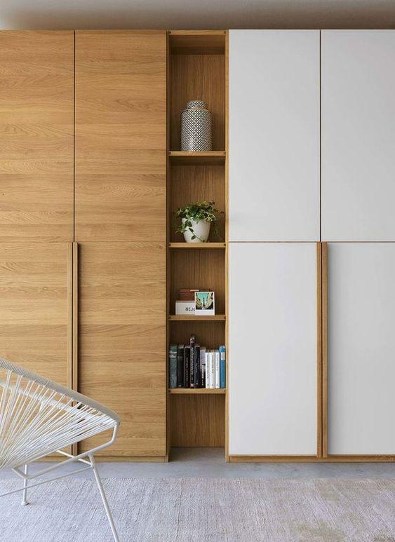 Tủ quần áo gỗ kèm kệ sách - VT1