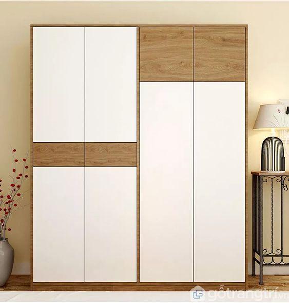 Tủ quần áo gỗ và kệ sách - VT2