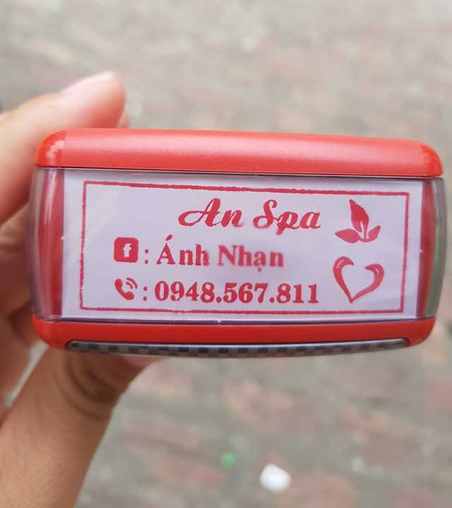 Khắc dấu tên shop tại Gia Lai, Spa mini
