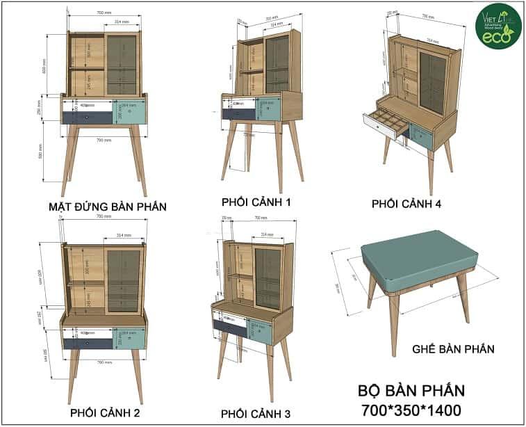 mẫu bàn trang điểm gỗ công nghiệp tại VIETLINK Gia Lai